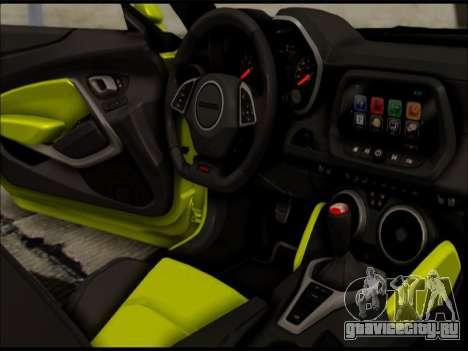 2017 Chevrolet Camaro SS GTA SA для GTA San Andreas вид слева