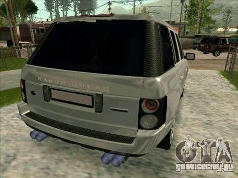 Range Rover Sport 2008 для GTA San Andreas вид сзади слева