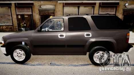Chevrolet Tahoe Stock 2002 для GTA 4 вид слева