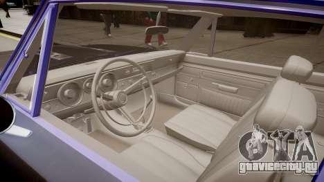 Plymouth Barracuda Formula S для GTA 4 вид изнутри