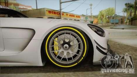 Mercedes-Benz AMG GT3 2016 для GTA San Andreas вид сзади слева