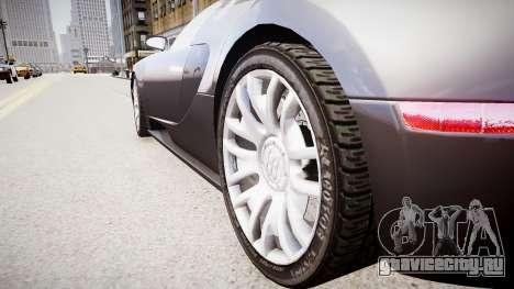 Bugatti Veyron 16.4 v1.7 для GTA 4 вид сзади
