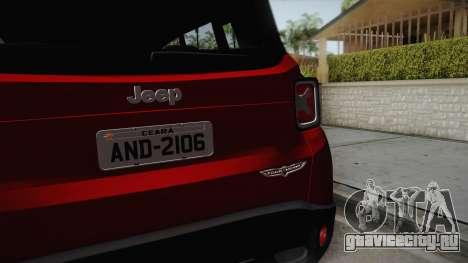 Jeep Renegade 2017 для GTA San Andreas вид сзади