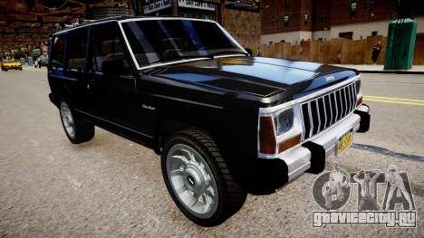Jeep Cherokee 1992 для GTA 4 вид справа