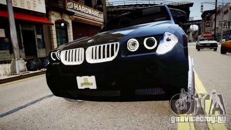 BMW X3 2.5Ti 2009 для GTA 4 вид справа
