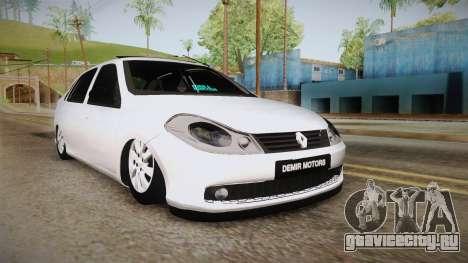 Renault Symbol для GTA San Andreas вид сзади слева