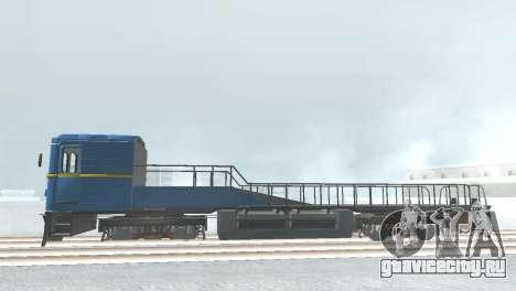 Вагон типа ЕмаЭГ 81-502 0001 для GTA San Andreas вид сзади слева