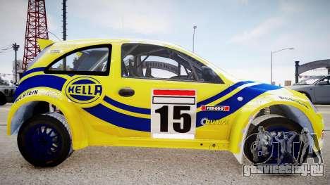 Opel Corsa «Yes, of Corsa» для GTA 4 вид сзади слева