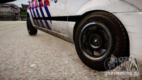 Mercedes-Benz Vito 115 CDI Dutch Police для GTA 4 вид сзади