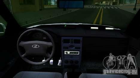 ВАЗ 2170 Приора ДПС для GTA San Andreas вид изнутри