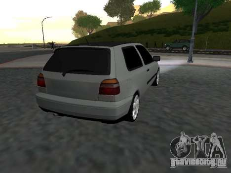 Volkswagen Golf 3 Armenian для GTA San Andreas вид справа