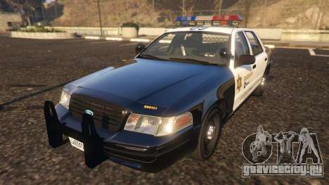 Ford Crown Victoria P71- LA Co. Sheriff 1999 для GTA 5