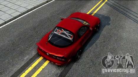 Mazda RX-7 Rocket Bunny для GTA San Andreas вид сзади
