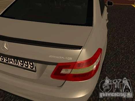 Mercedes-Benz E63 Armenian для GTA San Andreas вид изнутри