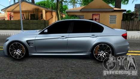 BMW M3 F80 30 Jahre 2016 для GTA San Andreas вид слева