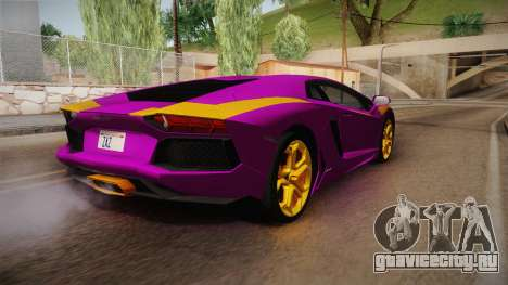 Lamborghini Aventador The Joker для GTA San Andreas вид слева