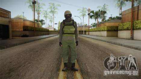 GTA Online Military Skin Green-Verde для GTA San Andreas
