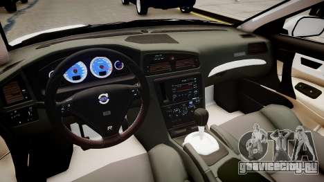 Latvian Police Volvo S60R для GTA 4 вид изнутри