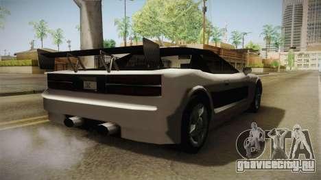 ZR Infernus для GTA San Andreas вид слева