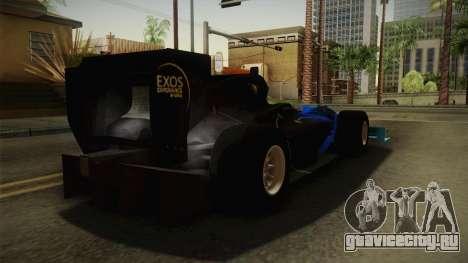 F1 Lotus T125 2011 v2 для GTA San Andreas вид сзади слева