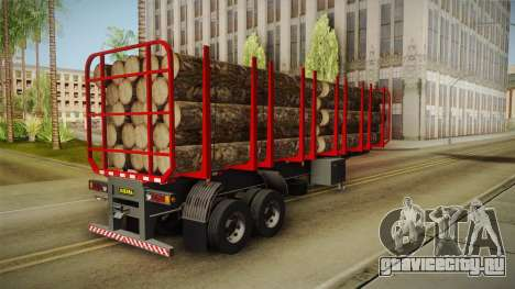 Double Trailer Timber Brasil v2 для GTA San Andreas вид сзади слева