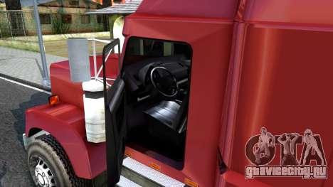 Truck From NFS Undercover для GTA San Andreas вид изнутри