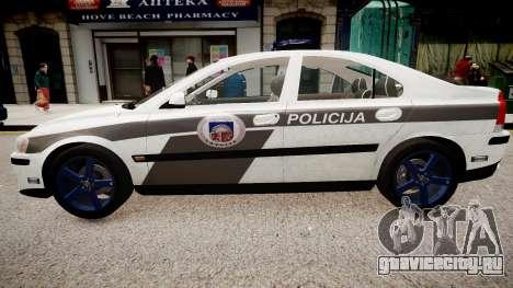 Latvian Police Volvo S60R для GTA 4 вид слева