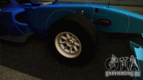 F1 Lotus T125 2011 v2 для GTA San Andreas вид сзади