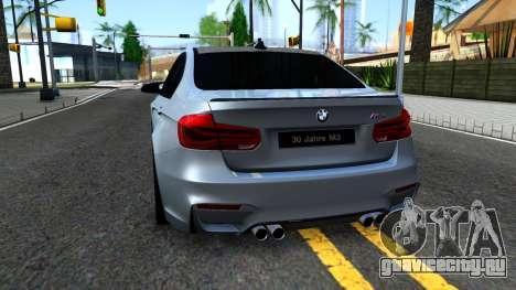 BMW M3 F80 30 Jahre 2016 для GTA San Andreas вид сзади слева