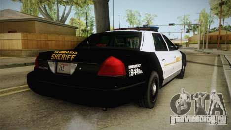 Ford Crown Victoria SHERIFF для GTA San Andreas вид слева