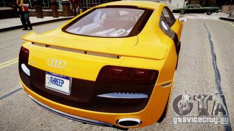 Audi R8 PPI Threep Edition для GTA 4 вид сзади слева