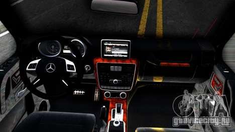 Mercedes-Benz G65 AMG для GTA San Andreas вид изнутри