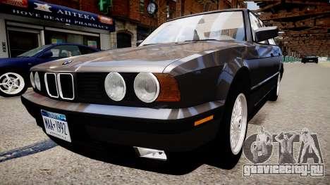 BMW 535i E34 ShadowLine v.3.0 для GTA 4 вид сзади слева