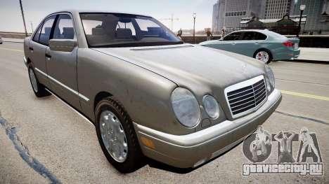Mercedes E280 w210 1998 для GTA 4 вид справа