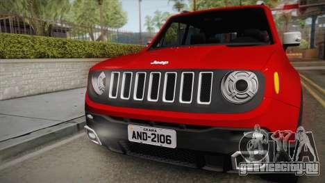 Jeep Renegade 2017 для GTA San Andreas вид справа