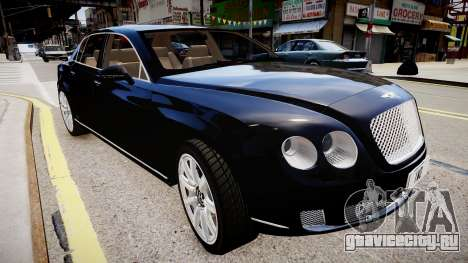 Bentley Continental Flying Spur 2010 для GTA 4 вид справа