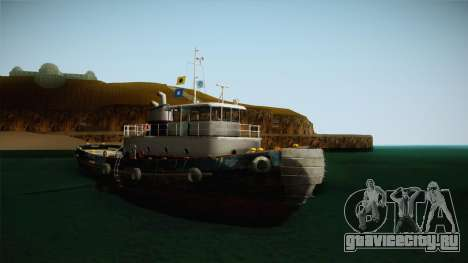 GTA 5 Buckingham Tug Boat для GTA San Andreas вид справа