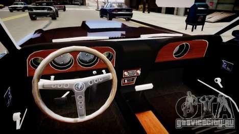 Ford Mustang Boss 429 1964 для GTA 4 вид изнутри