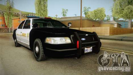 Ford Crown Victoria SHERIFF для GTA San Andreas вид сзади слева