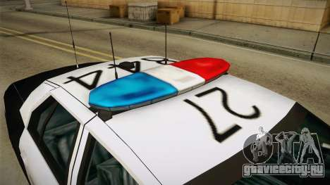Ford Crown Victoria SHERIFF для GTA San Andreas вид изнутри