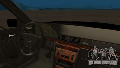 Mersedes-Benz E500 W124 Armenia для GTA San Andreas вид сзади