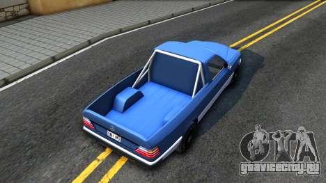 Mercedes-Benz W124 Pickup для GTA San Andreas вид сзади