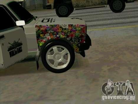 Иж-21175 для GTA San Andreas вид сзади