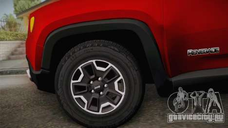 Jeep Renegade 2017 для GTA San Andreas вид сзади слева