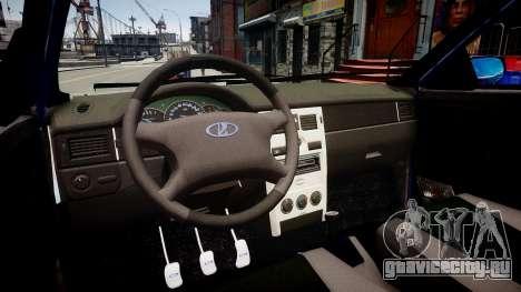 Lada Priora хэтчбек бета для GTA 4 вид изнутри