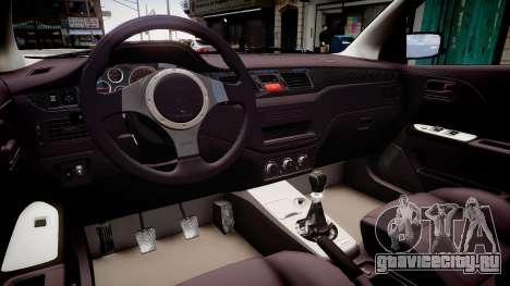 Mitsubishi Lancer Evolution VIII MR C-West для GTA 4 вид изнутри