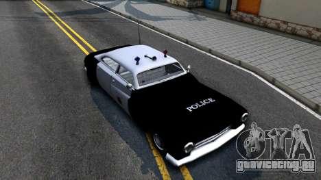 Hermes Classic Police Los-Santos для GTA San Andreas вид справа