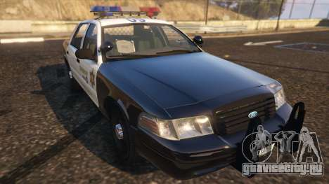 Ford Crown Victoria P71- LA Co. Sheriff 1999 для GTA 5 вид сзади
