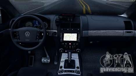 Volkswagen Touareg Полиция Украины для GTA San Andreas вид изнутри