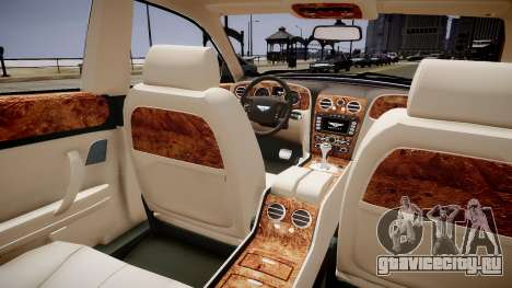Bentley Continental Flying Spur 2010 для GTA 4 вид изнутри